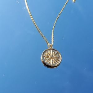 Jewelry - Gold filled compass coin necklace